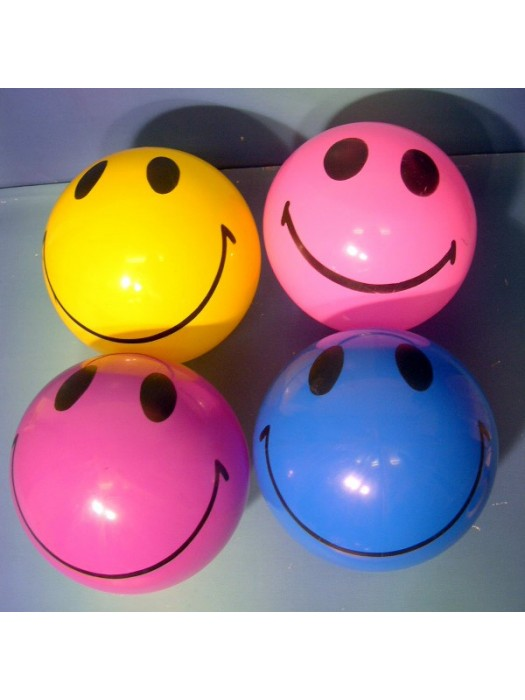 "Blue - 8"" SMILEY FACE FOOTBALL INFLATED - EACH ASST"